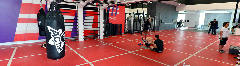 "Virgin Active Emquartier Mall, Bangkok, Thailand - ""The Grid"" made of Neoflex™ 800 Series REPtile Fitness Flooring"